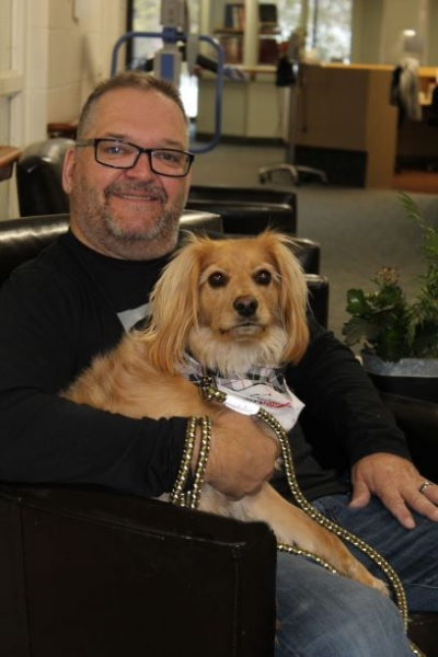 Bruno and Chester spread happiness through pet therapy